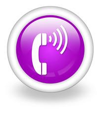 """Violet Icon """"Telephone"""""""