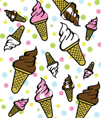 ice cream cone for blackground