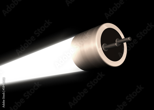 canvas print picture Leuchtstoffröhre