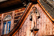 Leinwanddruck Bild - Traditional polish wooden hut from Zakopane, Poland.