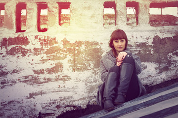 Vintage portrait of beautiful girl