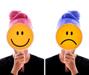 Personnages bonnet heureux malheureux