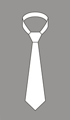 Vector fashion illustration of a tie