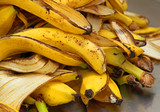 yellow banana peels just Peel to store organic waste poster