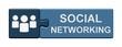 Puzzle-Button blau: Social Networking