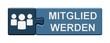 Leinwandbild Motiv Puzzle-Button blau: Mitglied werden