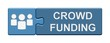 Puzzle-Button blau: Crowdfunding