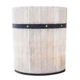 wood bucket isolated