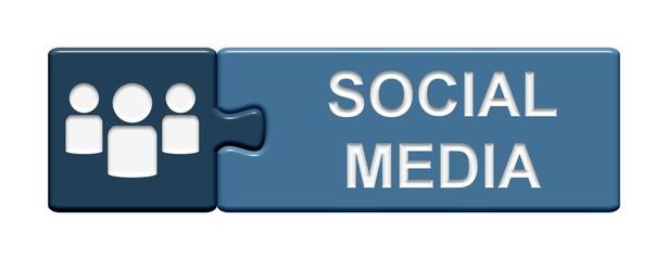 Puzzle-Button blau: Social media