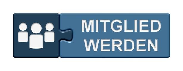 Puzzle-Button blau: Mitglied werden