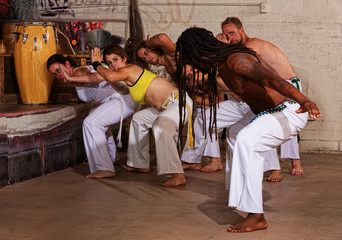 Capoeira Teacher Leading Group