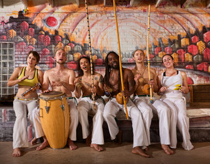 Cheerful Capoeira Team Singing
