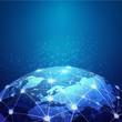 World mesh digital communication and technology network, vector