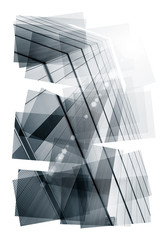 skyscraper abstract collage