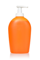 Orange dispenser with detergent