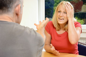 Streit zwischen Mann und Frau