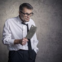 A man with a machete in his hand