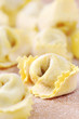fresh homemade Italian filled pasta - tortellini or ravioli