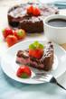 Veganer Schoko-ErdbeerYofu-Kuchen