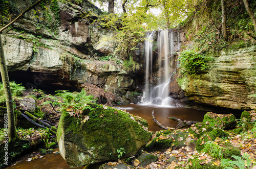 Waterfall at Roughting Linn