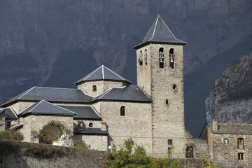 Old church in the Pyrenees
