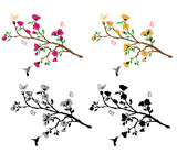 Flower Branches Wall Decal