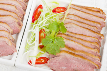 Tea-Smoked Duck - Vietnamese style green tea smoked duck breast