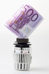 Heizthermostat mit 500 Euro Schein