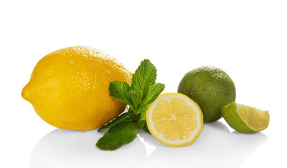 Big yellow lemon, lime and mint