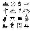 Outdoor Camping Icons - 58489847