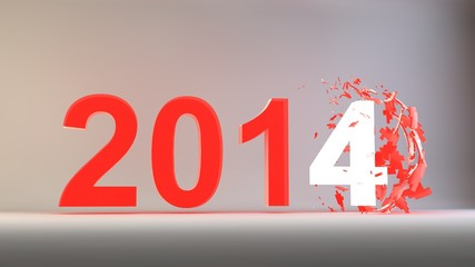 2014 New Year Crashed Past