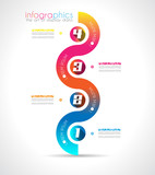 Infographic Design Template with modern flat style.