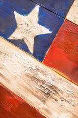 American Flag painted on Wood