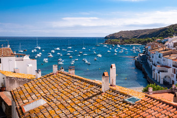 Rooftops and bay at Cadaques