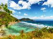 White sand beach. Malcapuya island, Philippines