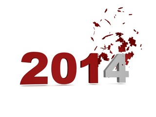 2014 New Year Crashed Past -Red