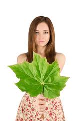 woman leaf