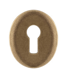 Keyhole isolated on white with clipping path