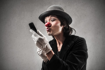 Texting Clown