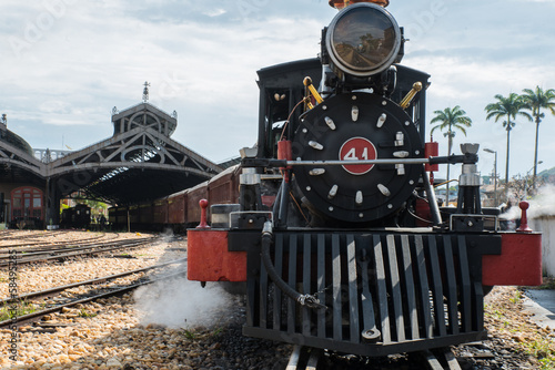 Steam train in Tiradentes, Brazil
