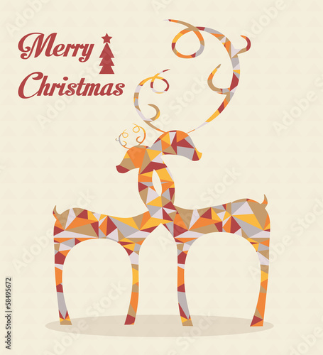 merry christmas abstract deers