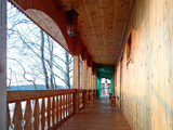 Veranda of the wooden village house