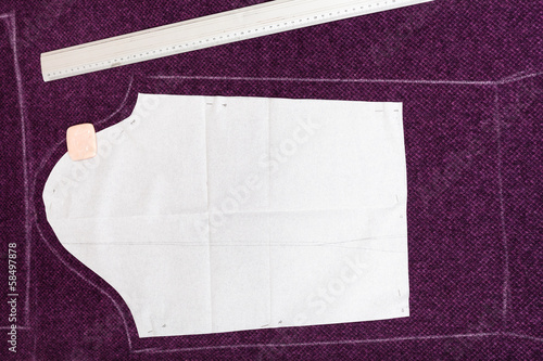 tailor ruler, soap and pattern cutting of clothes