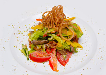 Salad With pineapple tomato and mussel
