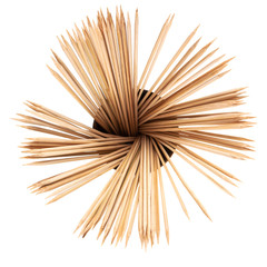 top view of many wooden toothpicks