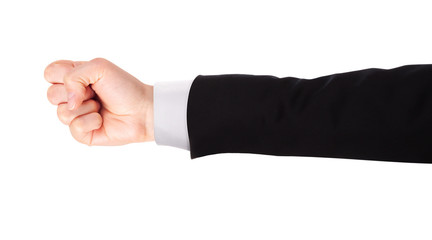 Businessman's fist pump