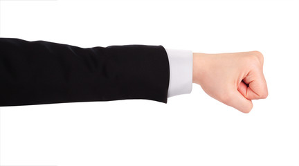 Businessman's fist pump
