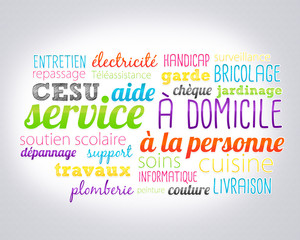 nuage de mots : service à domicile