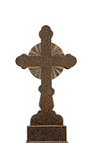 Granite cross isolated