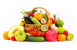 Fresh, organic vegetables and fruits in the basket